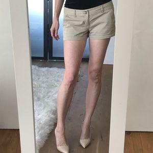 Mossimo khaki short shorts